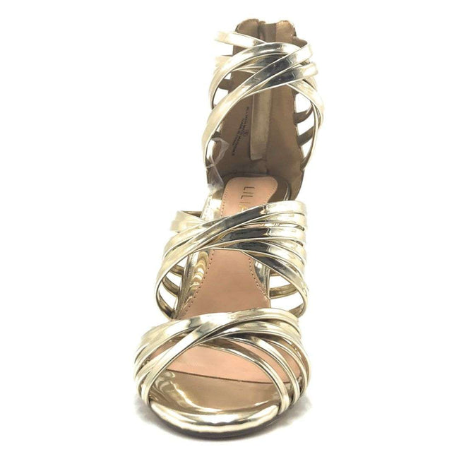 Liliana Donna-8 Gold Color Heels Shoes for Women