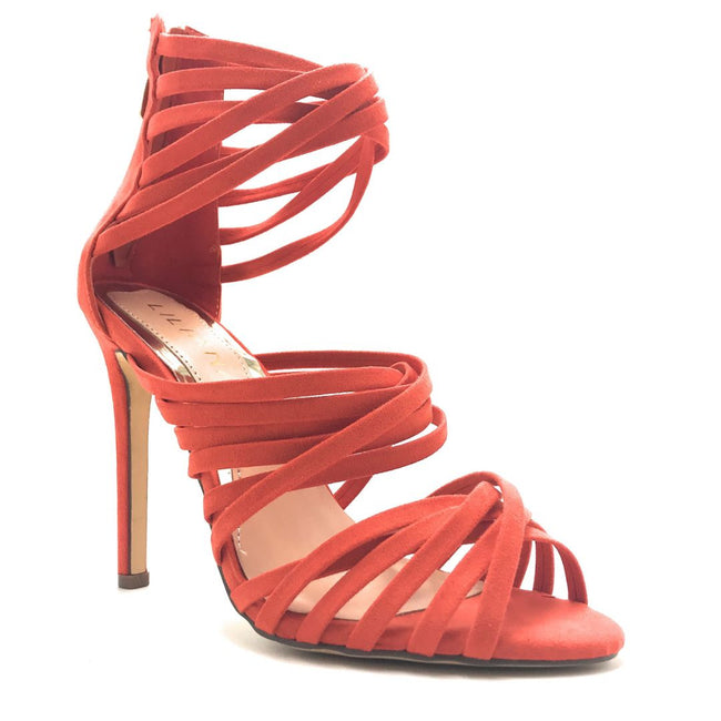 Liliana Donna-8 Orange Color Heels Shoes for Women