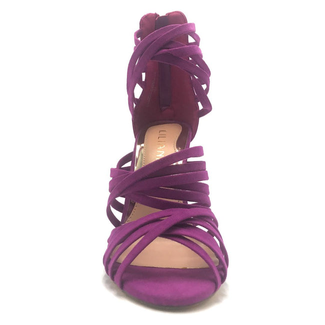 Liliana Donna-8 Purple Color Heels Shoes for Women