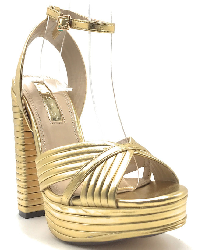 Liliana Gilly-9 Gold Color Heels Shoes for Women