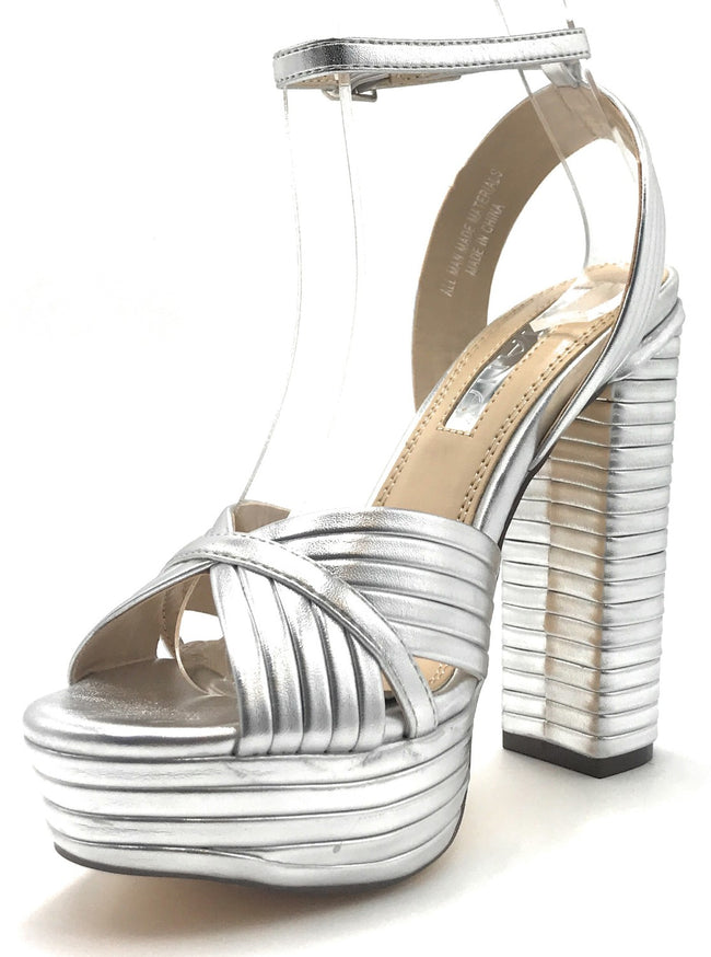 Liliana Gilly-9 Silver Color Heels Shoes for Women