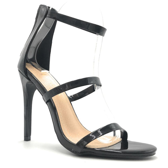 Liliana Golden-163 Black Color Heels Shoes for Women