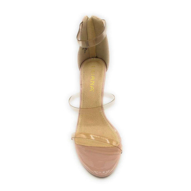Liliana Golden-163 Nude Color Heels Shoes for Women