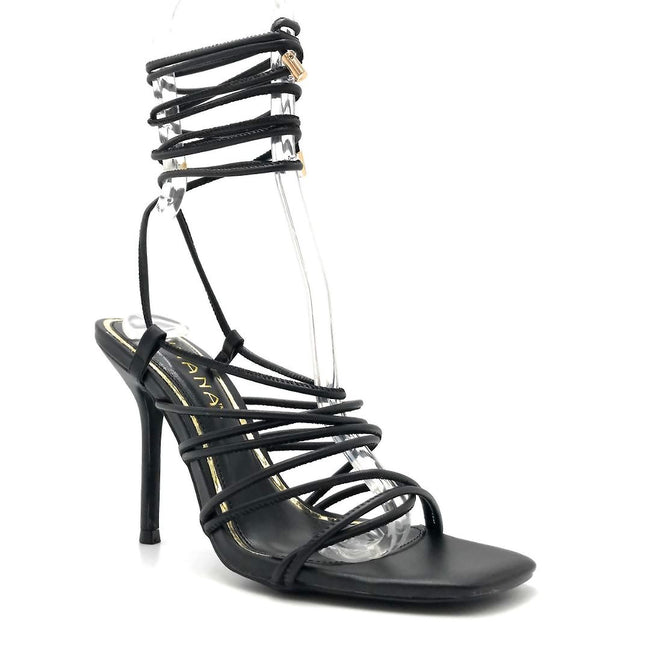 Liliana Iman-1 Black Color Heels Right Side View, Women Shoes