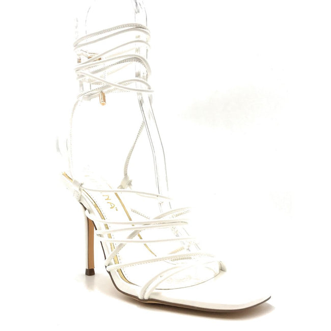 Liliana Iman-1 White Color Heels Right Side View, Women Shoes