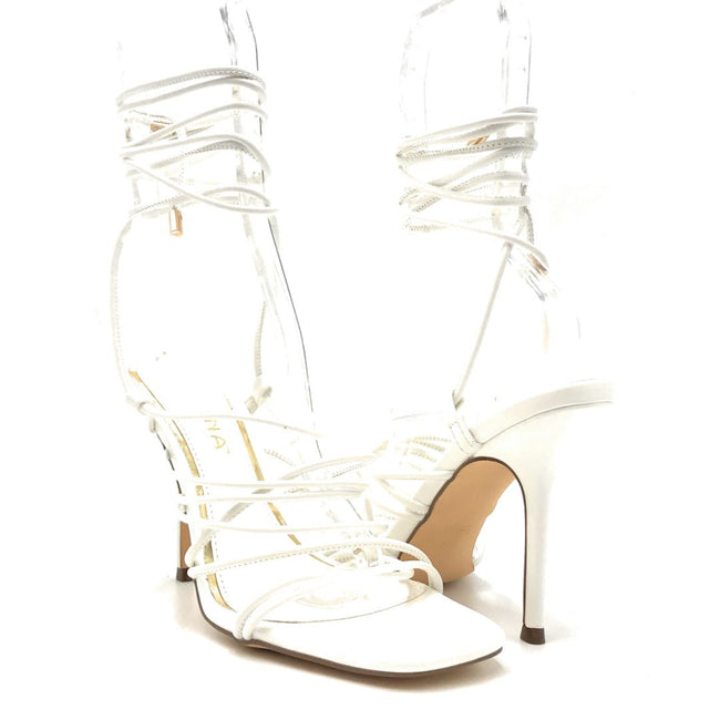 Liliana Iman-1 White Color Heels Both Shoes together, Women Shoes