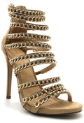 Liliana Jesse-229 Nude Color Heel Shoes for Women