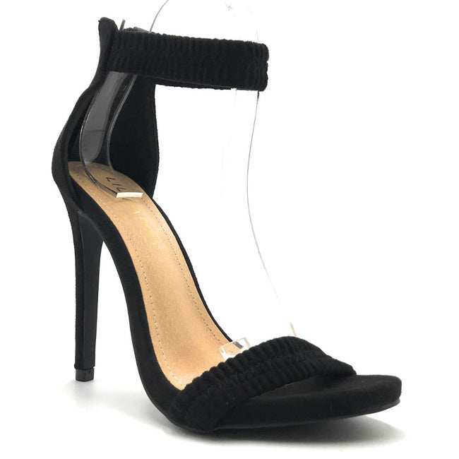 Liliana Jesse-374 Black Color Heels Shoes for Women