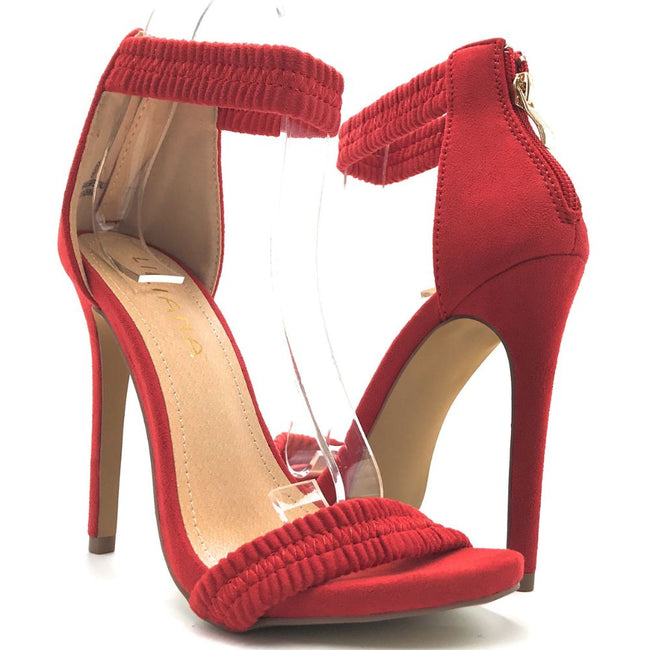 Liliana Jesse-374 Red Color Heels Shoes for Women