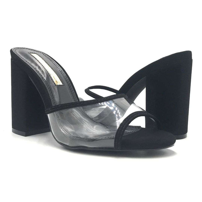 Liliana Kana-4 Black Color Heels Shoes for Women