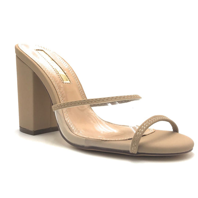 Liliana Kana-4 Nude Color Heels Shoes for Women