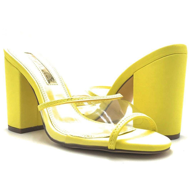Liliana Kana-4 Yellow Color Heels Shoes for Women