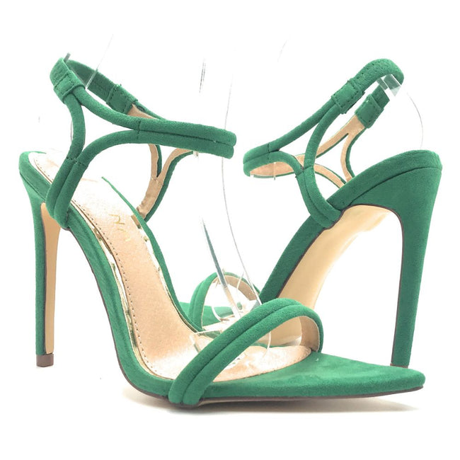 Liliana Laurent-6 Green Color Heels Shoes for Women