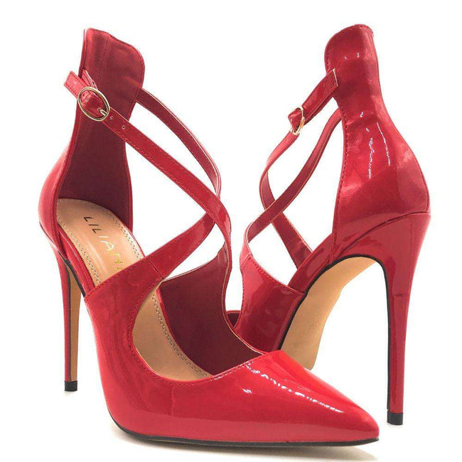 Liliana New-1 Red Color Pumps Shoes for Women