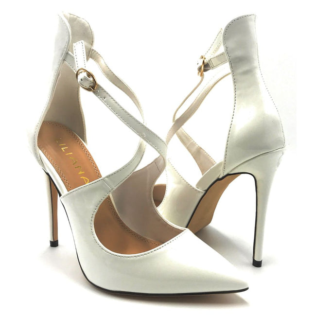 Liliana New-1 White Color Pumps Shoes for Women