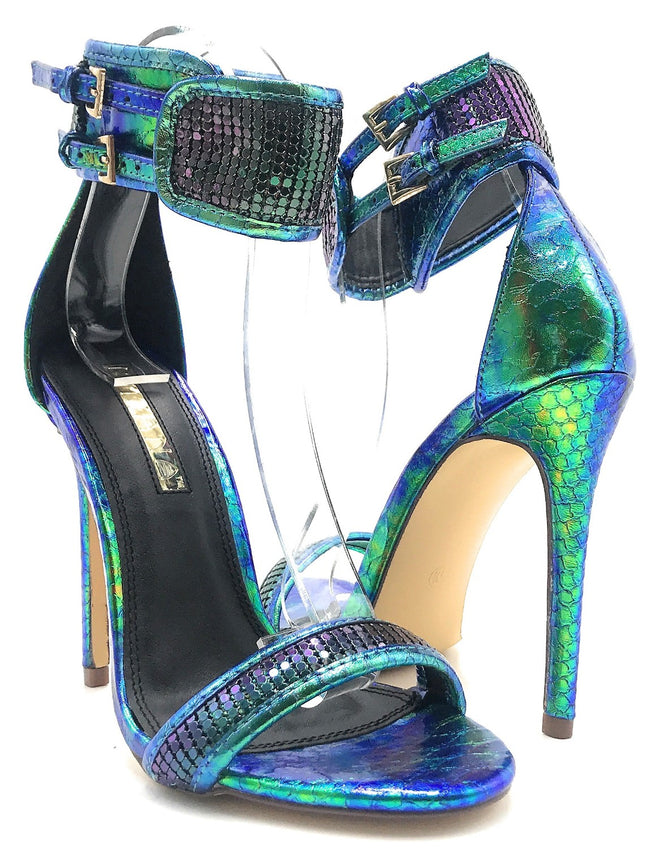 Liliana Nikia-174 Green Color Heel Shoes for Women