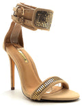 Liliana Nikia-174 Nude Color Heel Shoes for Women