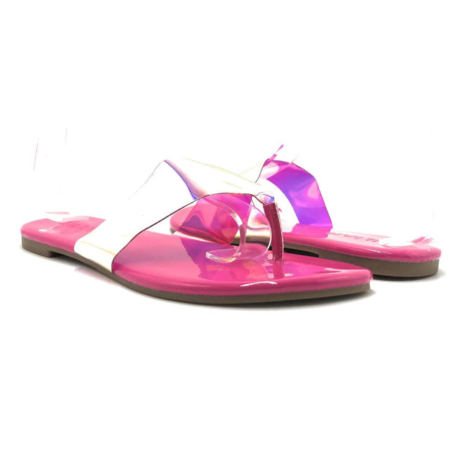 Liliana Rey-2 Pink Color Flat-Sandals Shoes for Women