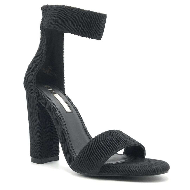 Liliana Sage-124 Black Color Heels Shoes for Women
