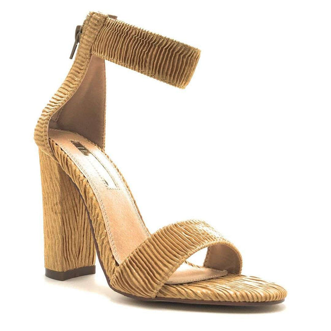 Liliana Sage-124 Nude Color Heels Shoes for Women