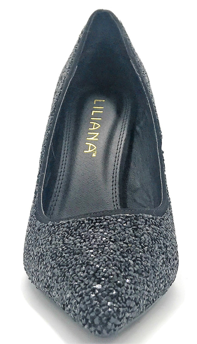 Liliana Salina-33A Black Color Pumps Shoes for Women