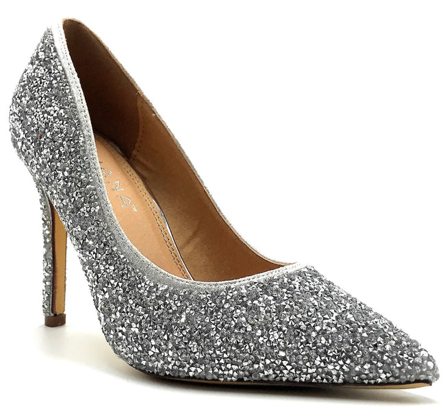 Liliana Salina-33A Silver Color Pumps Shoes for Women