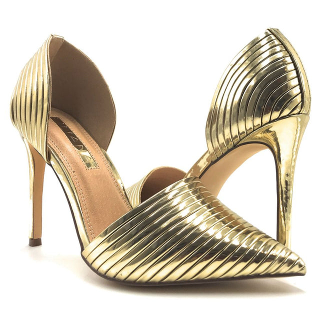 Liliana Selina-43 Gold Color Pumps Shoes for Women