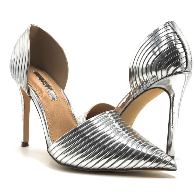 Liliana Selina-43 Silver Color Pumps Shoes for Women