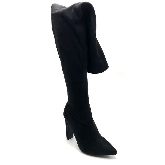 Liliana Splice-1 Black Color Boots Right Side View, Women Shoes