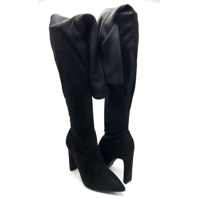Liliana Splice-1 Black Color Boots Both Shoes together, Women Shoes