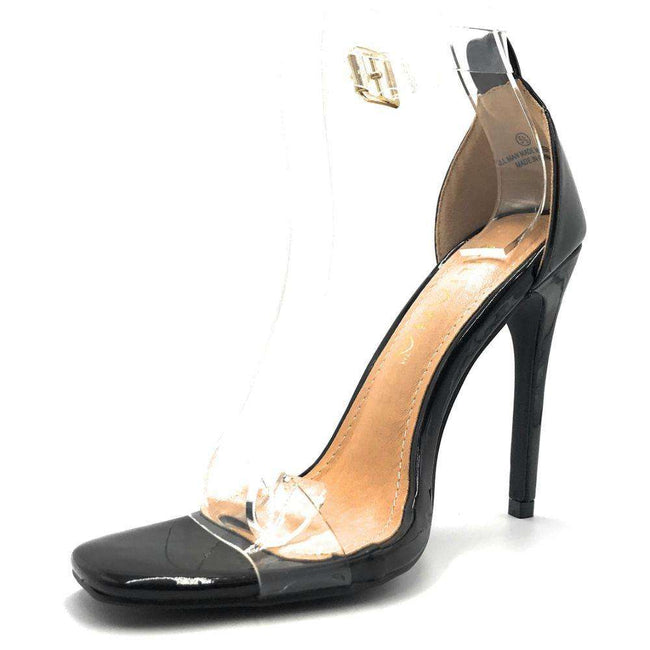 Liliana Tatiana-3 Black Color Heels Shoes for Women