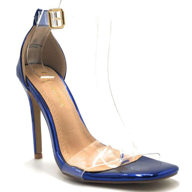 Liliana Tatiana-3 Blue Color Heels Shoes for Women