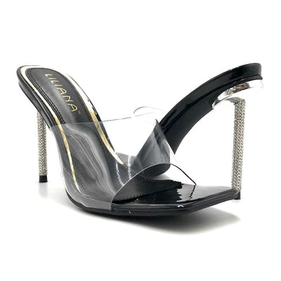 Liliana Vita-1 Black Color Heels Both Shoes together, Women Shoes