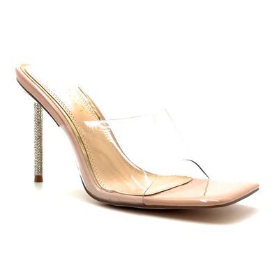 Liliana Vita-1 Nude Color Heels Right Side View, Women Shoes