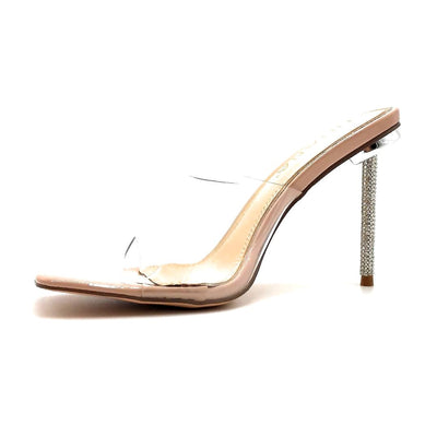 Liliana Vita-1 Nude Color Heels Left Side view, Women Shoes
