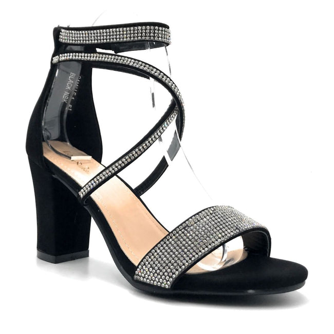 Lov Mark Camille-1 Black NBK Color Heels Right Side View, Women Shoes