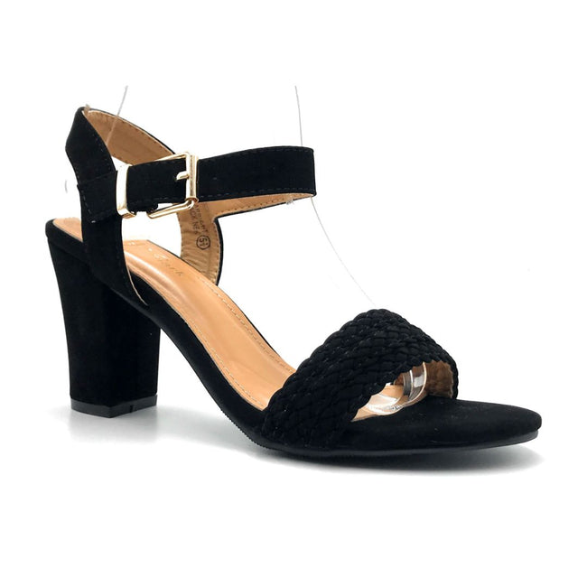 Lov Mark Carrisa-1 Black NBK Color Heels Right Side View, Women Shoes