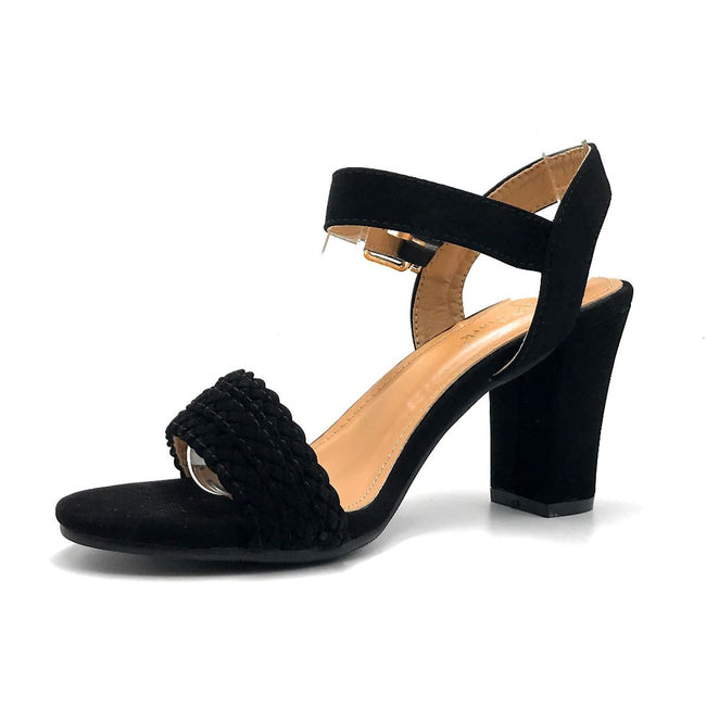 Lov Mark Carrisa-1 Black NBK Color Heels Left Side view, Women Shoes