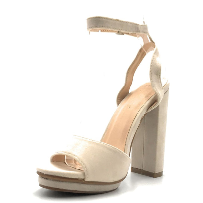 Lov mark Realove-12 Nude Color Heels Shoes for Women