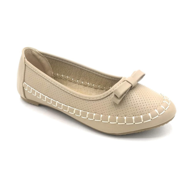 Lucita F07-010 Beige Color Ballerina Shoes for Women