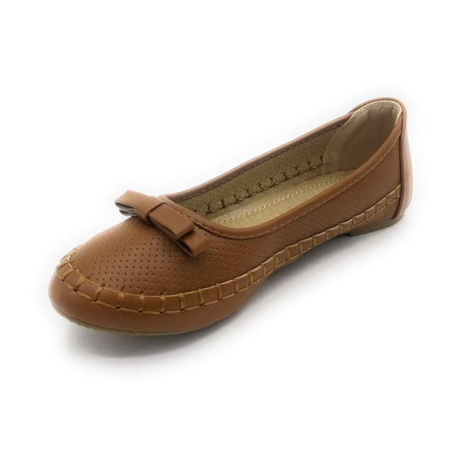 Lucita F07-010 Camel Color Ballerina Shoes for Women