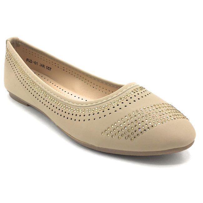Lucita FU2-61 Beige Color Ballerina Shoes for Women