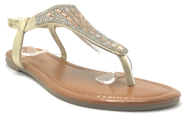 Lucita PPP-002 Gold Color Flat-Sandals Shoes for Women