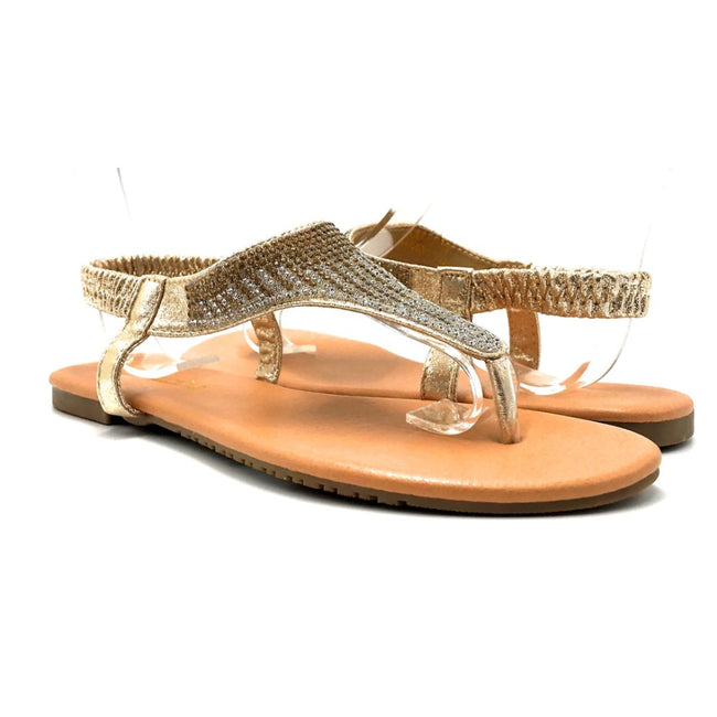 Lucita Pecko-1708 Gold Color Flat-Sandals Both Shoes together, Women Shoes