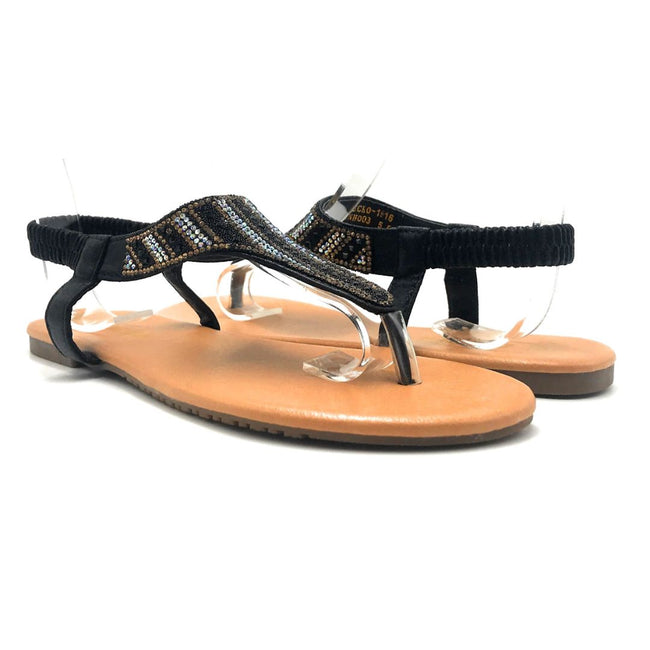 Lucita Pecko-1916 Black Color Flat-Sandals Both Shoes together, Women Shoes