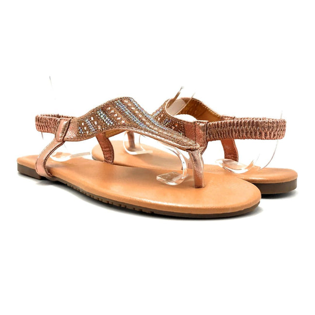 Lucita Pecko-1916 Champagne Color Flat-Sandals Both Shoes together, Women Shoes