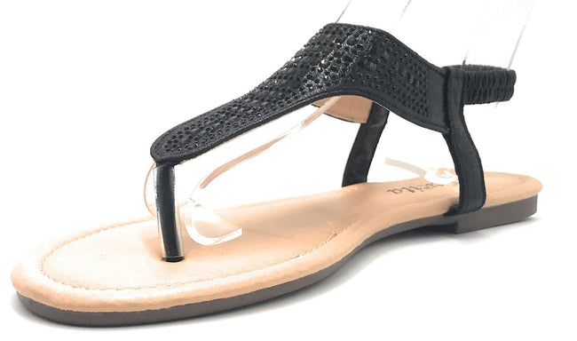 Lucita Peso-8 Black Color Flat-Sandals Shoes for Women