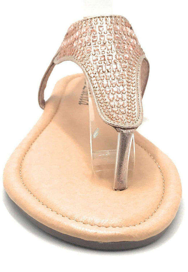 Lucita Peso-8 Champagne Color Flat-Sandals Shoes for Women