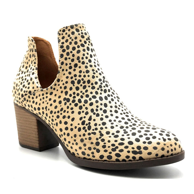 Mata Shoes Valentina-4 Cheetah Color Heels Right Side View, Women Shoes