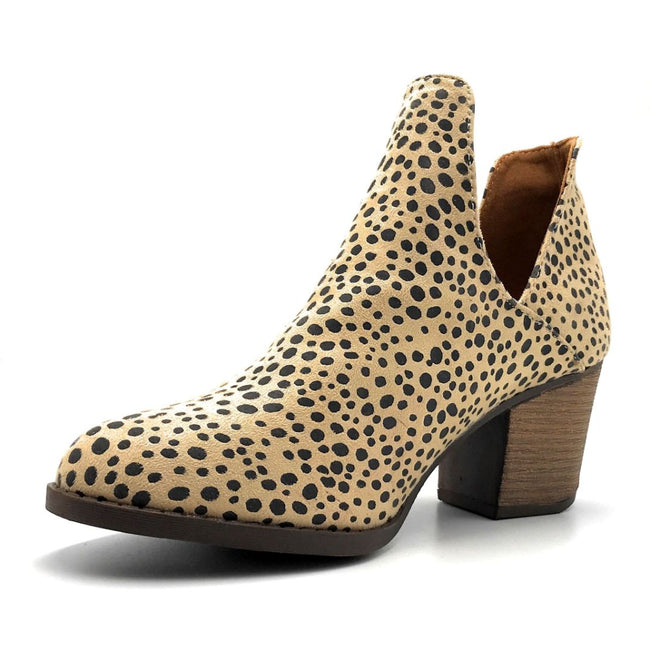 Mata Shoes Valentina-4 Cheetah Color Heels Left Side view, Women Shoes